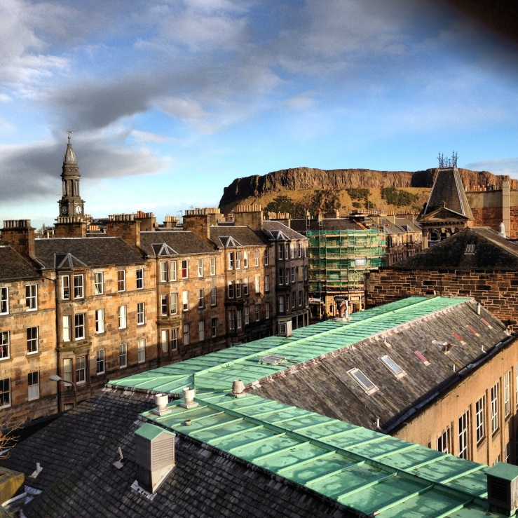 View of Arthur's Seat from the TechCube